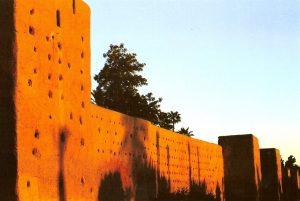 Remparts de Marrakech au coucher de soleil