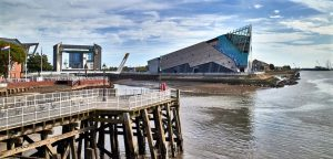 England, East Riding of Yorkshire, Kingston upon Hull city, the Deep aquarium along the Humber river