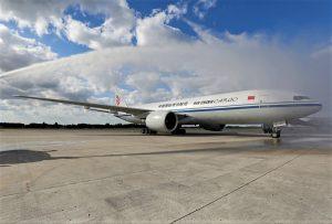 Baptême 1er vol Air China Cargo