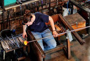 Démonstration du travail du verre à Meisenthal
