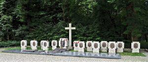 Dans la presqu'île de Westerplatte près de Gdansk, cimetière dédié aux défenseurs de la garnison polonaise tombés lors de l'attaque allemande le 1er septembre 1939, date de l'invasion de la Pologne et du début de la seconde guerre mondiale.