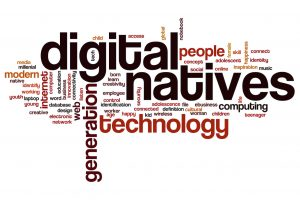 Digital natives word cloud