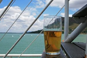 beverage-on-step-of-cruise-vessel