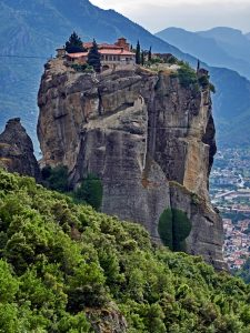 Meteora,Agia Triada monastery founded in 14 century