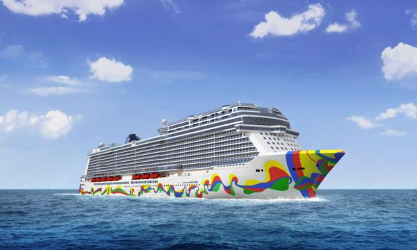 Norwegian Cruise Line dévoile l'œuvre qui ornera la coque du Norwegian Encore