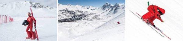 Un athlète belge à plus de 200km/h sur les skis !